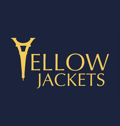 Yellow jackets text vector
