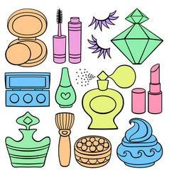 beauty and fashion supplies vector image