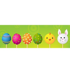 Easter Header vector image