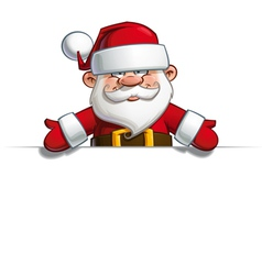 Happy Santa Empty Label Open Hands vector image vector image