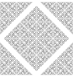 Black White Seamless Round Pattern vector image