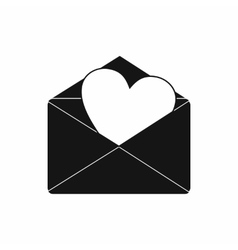 Envelope with heart icon simple style vector image vector image