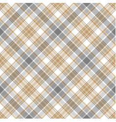 gray beige checkered tartan seamless pattern vector image vector image