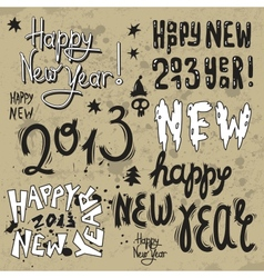 Happy New Year 2013 grunge text vector image vector image