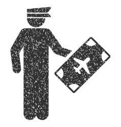 Officer Icon Rubber Stamp vector image
