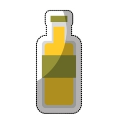 oil bottle isolated icon vector image