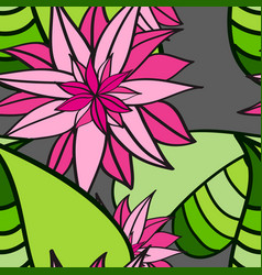 Seamless floral pattern abstract leaves and vector