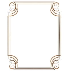 vertical frame vector image vector image