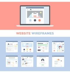 Website Wireframes vector image vector image