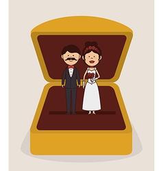 Wedding design over gray background vector image