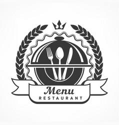 design menu label on white vector image