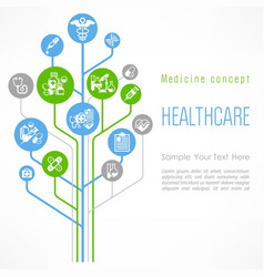 Medical outline concept poster vector