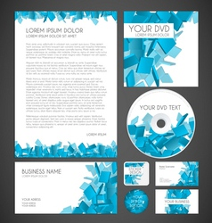 Modern Particles Graphic Business Layout vector image vector image
