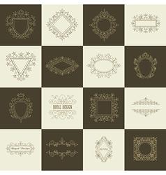 Vintage Floral Frames for your Logo vector image