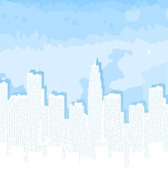 city contour against the blue sky vector image vector image