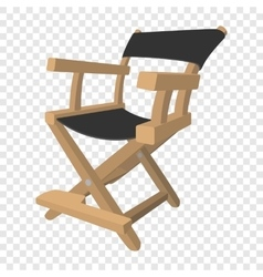 Director chair cartoon icon vector image vector image