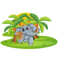 elephant and mouse vector image vector image