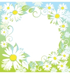 funny spring floral border vector image