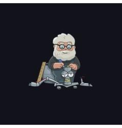 Professor character design robot vector image