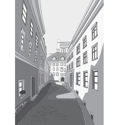 Street of city vector image vector image