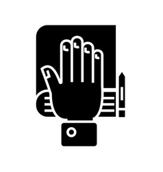 truth concept - hand bible scales icon vector image vector image