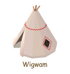 wigwam icon isometric 3d style vector image