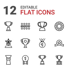 12 prize icons vector
