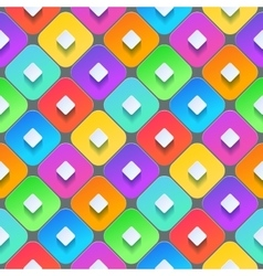 Abstract 3d geometric background Colorful vector