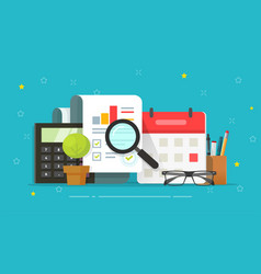 Analysis research sales report review vector