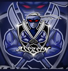 assasin sport mascot logo design vector image