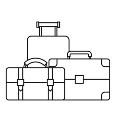 Baggage icon outline style vector