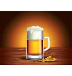 beer mug background vector image