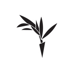 bird of paradise flower black concept icon vector image