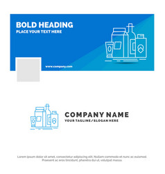 blue business logo template for packaging vector image