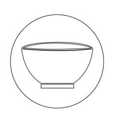 bowl icon design vector image