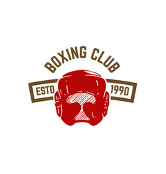 champion boxing club emblem template with boxing vector image