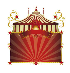 Circus red frame vector