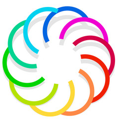 colorful spirally design element abstract vector image