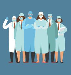 Coronavirus doctor nurse medic wear medical vector