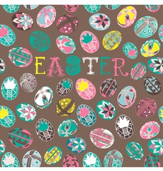 Doodle Easter Background Pattern vector image