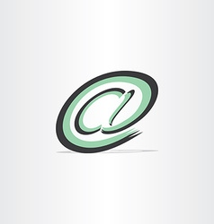 e mail internet stylized symbol vector image