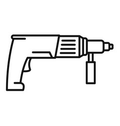 electric drill icon outline style vector image