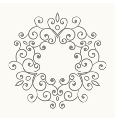 Elegant luxury retro floral frame vector
