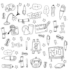Element education big doodle set vector image