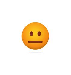Emoji poker face dispassionate expression of vector