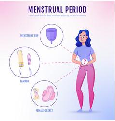 Feminine hygiene flat infoposter vector