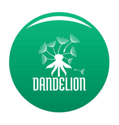 Field dandelion logo icon green vector