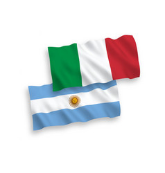 Flags italy and argentina on a white background vector