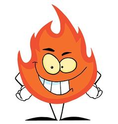 Flame Mascot Cartoon Character vector