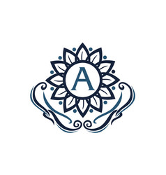 flower elegance initial a vector image